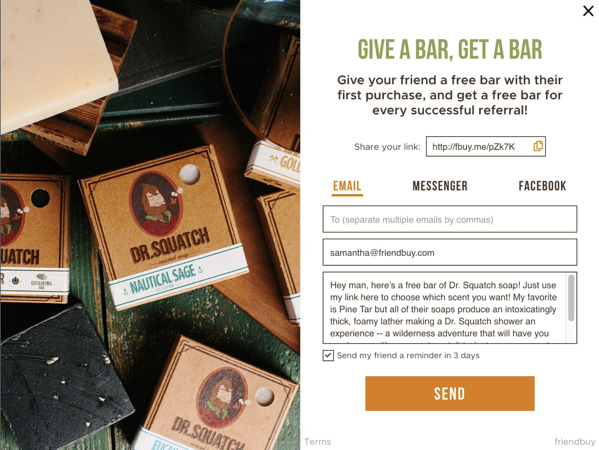 4 Referral Marketing Examples from Top DTC Brands Example 2
