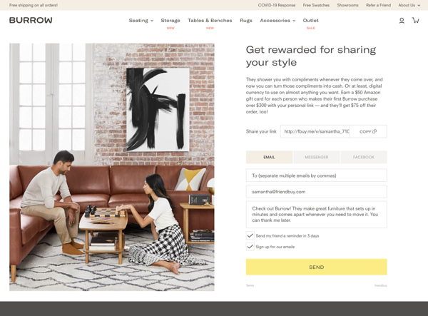 How to Determine the Right Offer Strategy for Your Referral Program Example 2