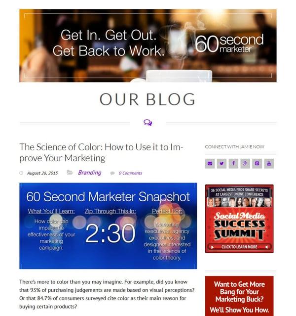 60 second marketer blog