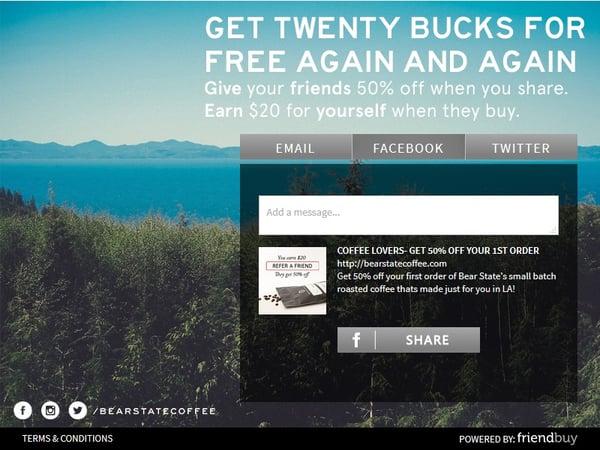 Bear State Coffee referral program