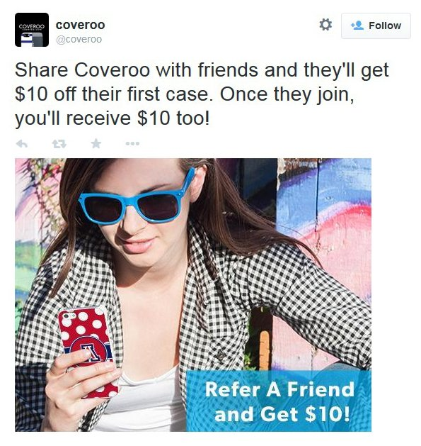 Coveroo referral incentive