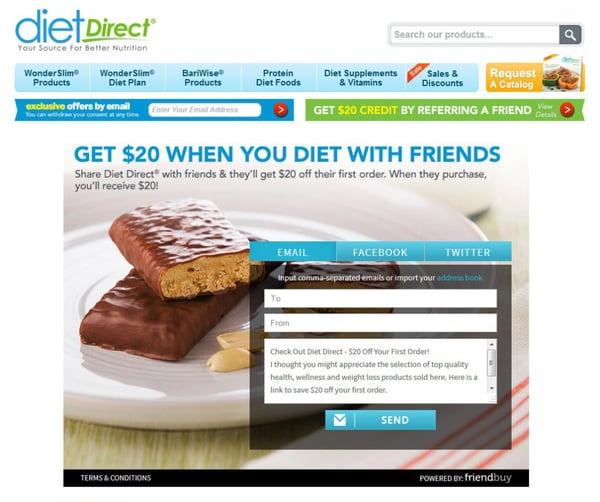 DietDirect referral program