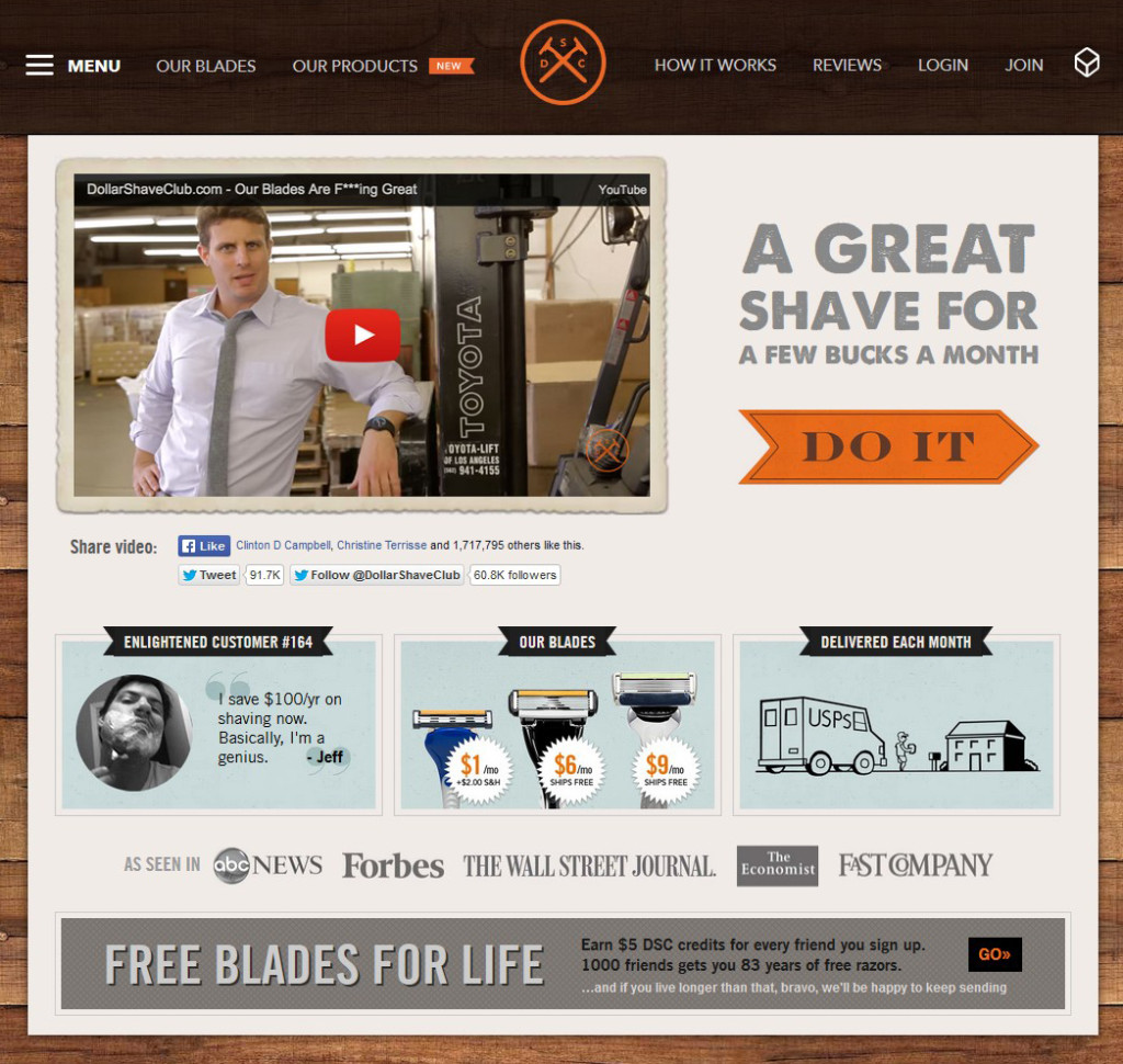 DollarShave referral incentive