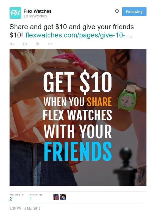 FlexWatches referral program