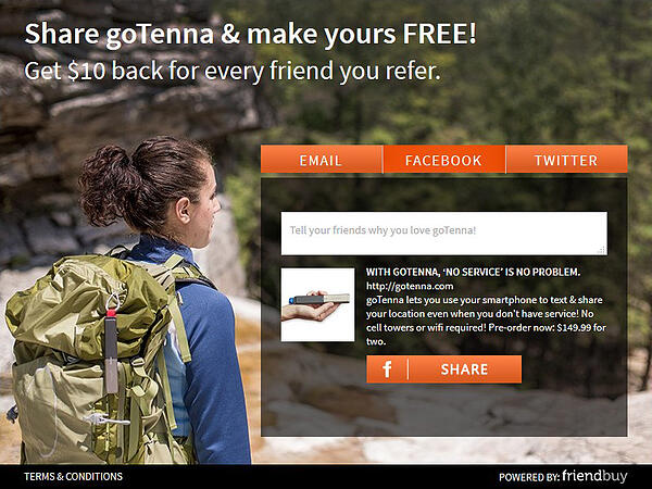 GoTenna referral incentive