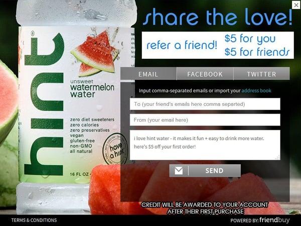 HintWater referral program