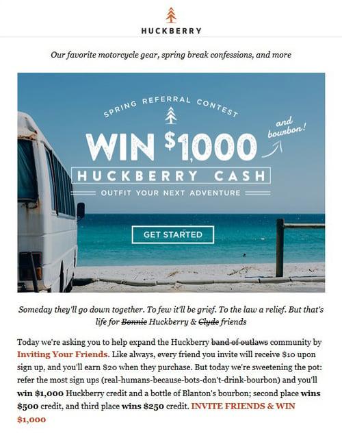 Huckberry-spring referral-contest