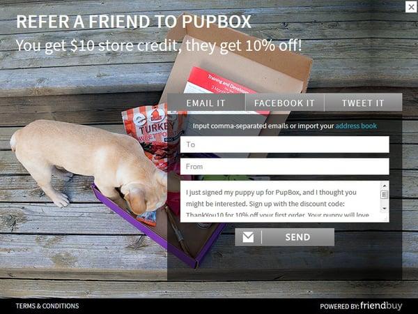 PupBox referral incentive