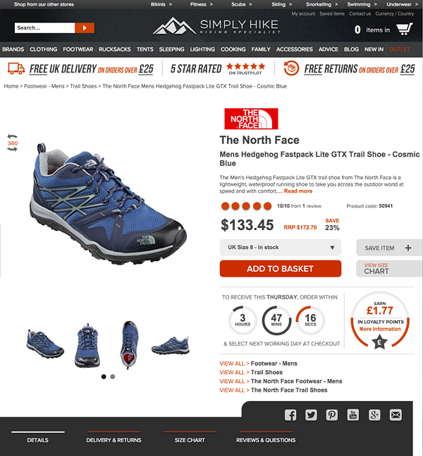 Simply Hike Product Page