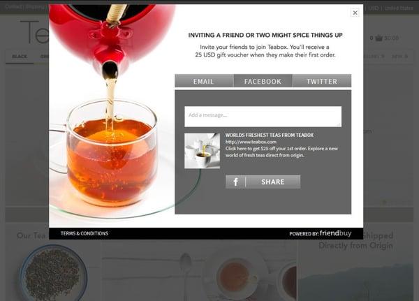 Teabox referral program