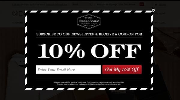 DODOcase newsletter signup