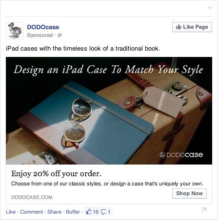 DODOcase Facebook Ad