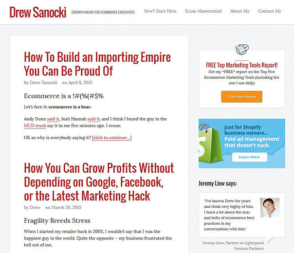 drew-sanocki-best-ecommerce-marketing-blogs