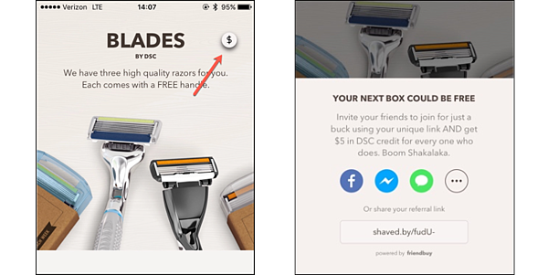 Referral Marketing Tactics of the Best Brands - Dollar Shave Club