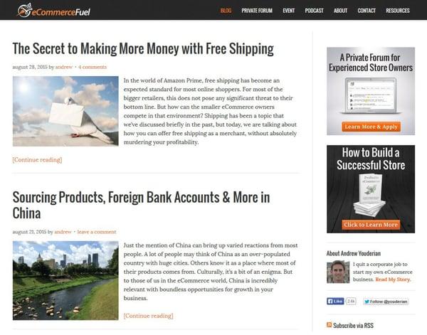 ecommerce fuel blog
