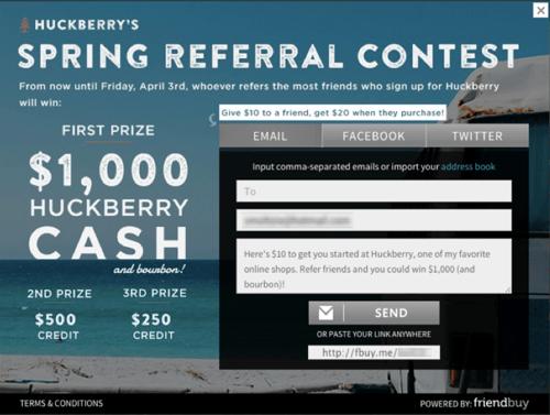 huckberry referral widget