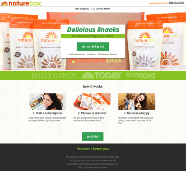naturebox referral landing page