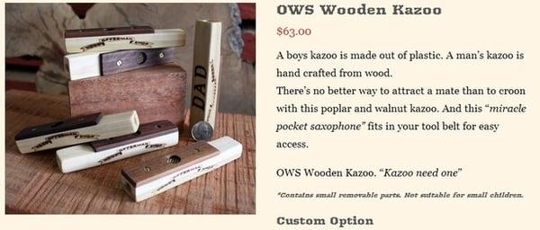 OWS Wooden Kazoo