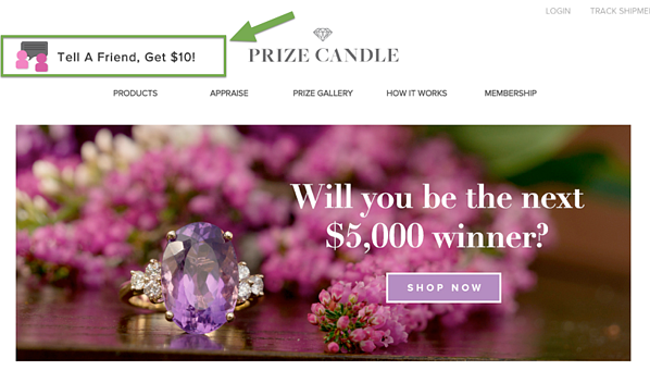 Prize Candle Referral Callout