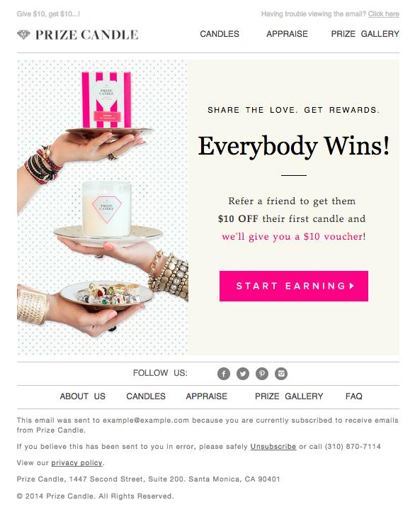 prizecandle-email-blast