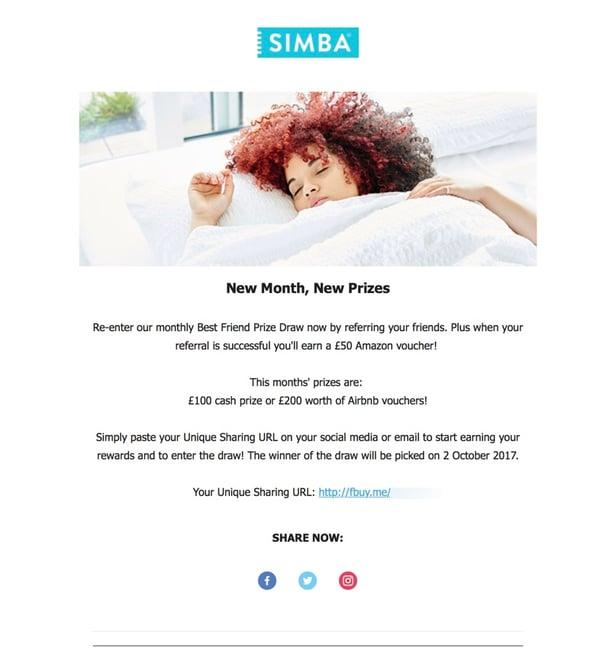 Referral Marketing Tactics of the Best Brands - Simba Sleep