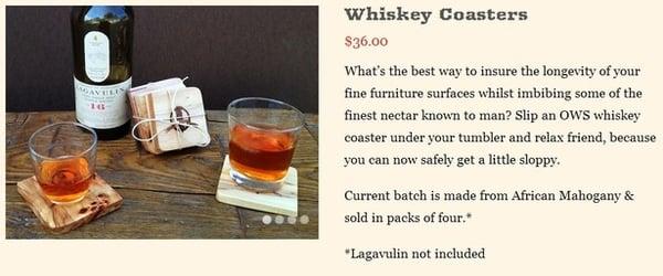 Whiskey Coasters